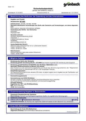 SDB MT 4000 DE - Grünbeck Wasseraufbereitung GmbH