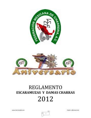 reglamento 2012 escaramuzas y damas charras - Cultura Charra