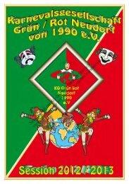 Sessionsheft der KG Grün/Rot Neudorf 1990 eV Vervielfältigung nur ...
