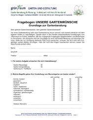 Gartenfragebogen als PDF - LINK  - grün-t-raum Garten & Gestaltung