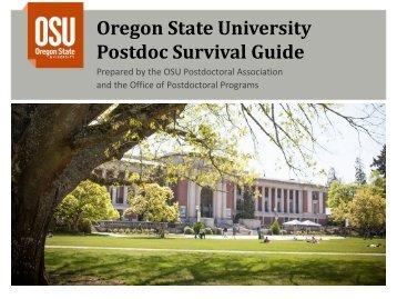 Oregon State University Postdoc Survival Guide