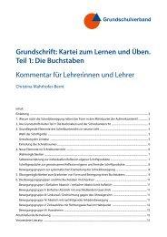 Grundschrift: Kartei zum Lernen und Üben. Teil 1: Die Buchstaben ...