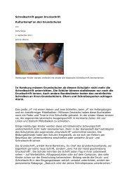 Schreibschrift gegen Druckschrift - Grundschulverband