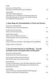 1. Neue Wege der Schreibdidaktik. In Praxis und Theorie 2. Von der ...