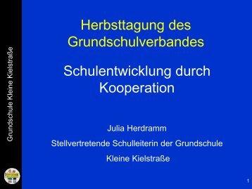 Schulentwicklung durch Kooperation - Grundschulverband