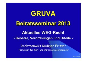 TrinkwV 2012 - GRUVA
