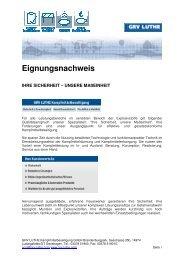 Eignungsnachweis 2012 - GRV LUTHE - Kampfmittelbeseitigung ...