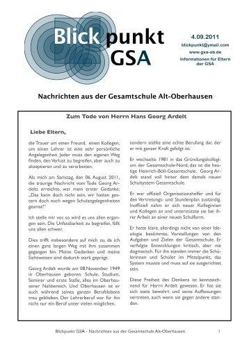 Zum Tode Georg Ardelts - der GSA