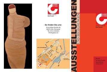 Austellung Bertram Bartl 08.05. - Geiger + Schüle Bau GmbH Ulm