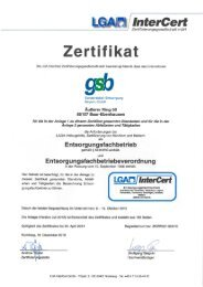 Gallenbach - gsb Sonderabfall-Entsorgung Bayern GmbH