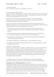 Meist gestellte Fragen zum eANV Stand Juni 2009 - gsb ...