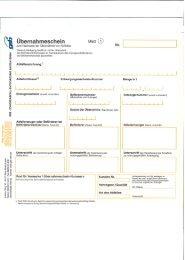 Begleitschein/Übernahmeschein