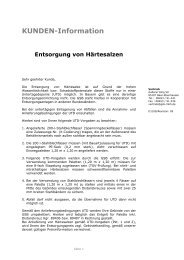 Härtesalze - gsb Sonderabfall-Entsorgung Bayern GmbH