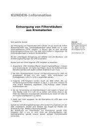 Filterstäube aus Krematorien - gsb Sonderabfall-Entsorgung Bayern ...