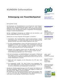 Feuerlöscherpulver - gsb Sonderabfall-Entsorgung Bayern GmbH