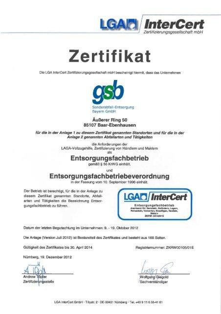 Mitterteich - gsb Sonderabfall-Entsorgung Bayern GmbH