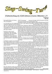 Vereinszeitung Nr. 85, Mai 2001 - Gelb Schwarz Casino München eV