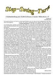 Vereinszeitung Nr. 87, Dezember 2001 - Gelb Schwarz Casino ...
