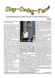 Vereinszeitung Nr. 88, Mai 2002 - Gelb Schwarz Casino München eV