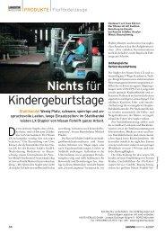 Nichts für Kindergeburtstage - GS-Gabelstapler Service GmbH