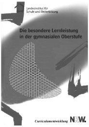 Besondere Lernleistung - Standardsicherung NRW