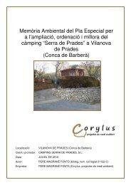Memòria ambiental Serra de Prades - Vilanova de Prades