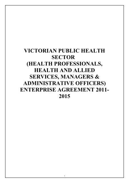 Enterprise Agreement 2011-2015 - Latrobe Regional Hospital