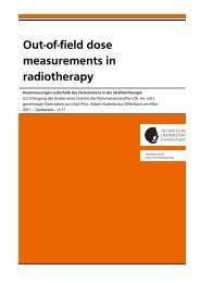 Out-of-field dose measurements in radiotherapy - GSI