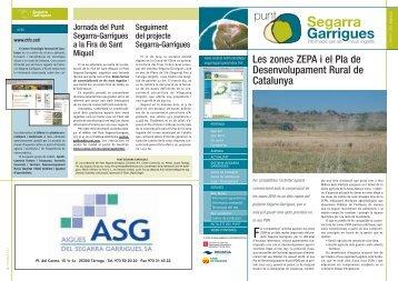 Les zones ZEPA i el Pla de Desenvolupament Rural ... - RuralCat