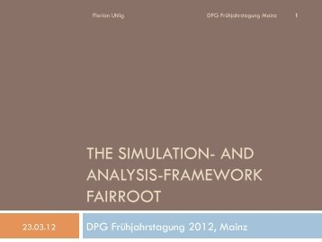 THE SIMULATION- AND ANALYSIS-FRAMEWORK FAIRROOT - GSI
