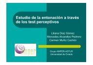Estudio de la entonación a través de los test perceptivos