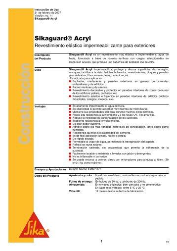 Ver ficha técnica - Tecno Urquiza, Distribuidor Autorizado de Sika ...