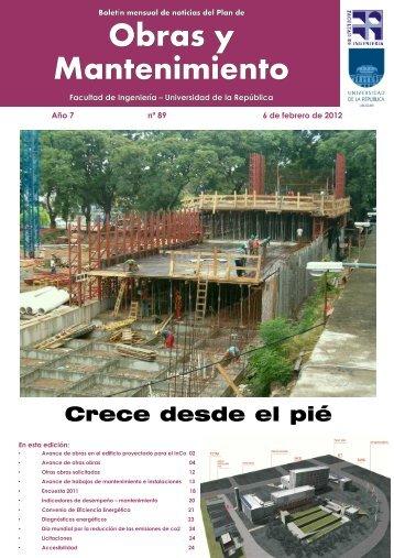 Obras y Mantenimiento - Facultad de Ingeniería