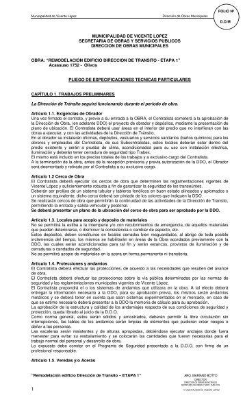 municipalidad de vicente lopez secretaria de obras y servicios ...