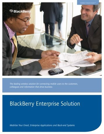 BlackBerry Enterprise Solution - Etisalat