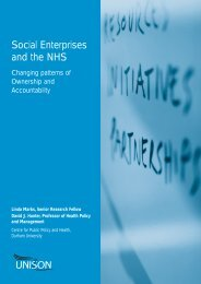 Social Enterprises and the NHS - Unison