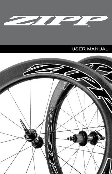 user manual - Zipp - Speed Weaponry