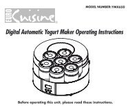 Digital Automatic Yogurt Maker Operating Instructions - Euro Cuisine ...