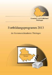 Fortbildungsprogramm 2013 der Kommunalakademie Thüringen ...