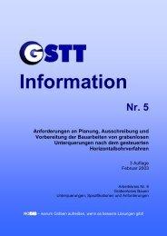Anforderungen an Planung, Ausschreibung und ... - GSTT