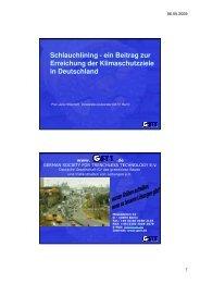 Schlauchlining - ein Beitrag zur Erreichung der ... - GSTT