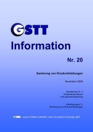 Nr. 20 Sanierung von Druckrohrleitungen - GSTT