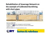 Rehabilitation of Sewerage Network on the example of Calibrated ...
