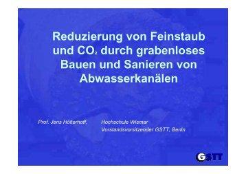 Reduzierung von Feinstaub und CO 2 - GSTT