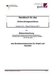 Handbuch für das - gsub