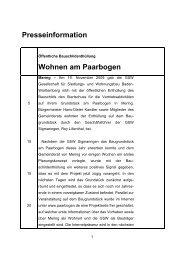 Bauschildenthüllung am Paarbogen in Mering - gsw sigmaringen