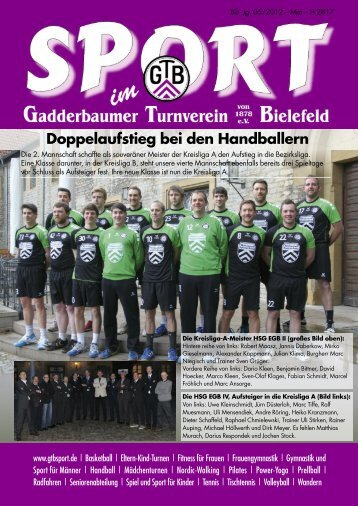 Doppelaufstieg bei den Handballern - Gadderbaumer Turnverein v ...