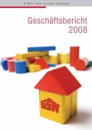Geschäftsbericht 2008 - gsw sigmaringen