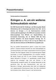 GSW Gesellschaft für Siedlungs- und ... - gsw sigmaringen