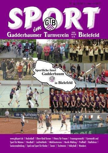 Ausgabe Mai 2011 - Gadderbaumer Turnverein v. 1878 eV Bielefeld